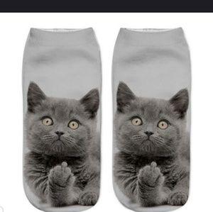 New funny cat womens socks